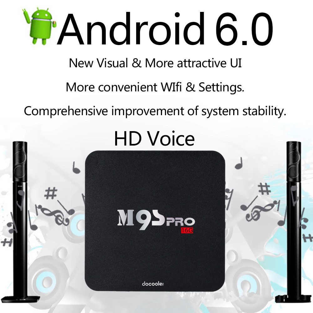 UNS Lager Docooler 2G 16G M9S PRO Smart Android 60 TV Box Amlogic S905X