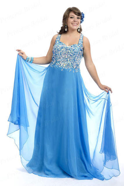 0b08df3309 Free Shipping Hottest Exquisite Sheath Sweetheart Chiffon Floor Length  Inexpensive Plus Size Prom Dresses With Beadings MD218