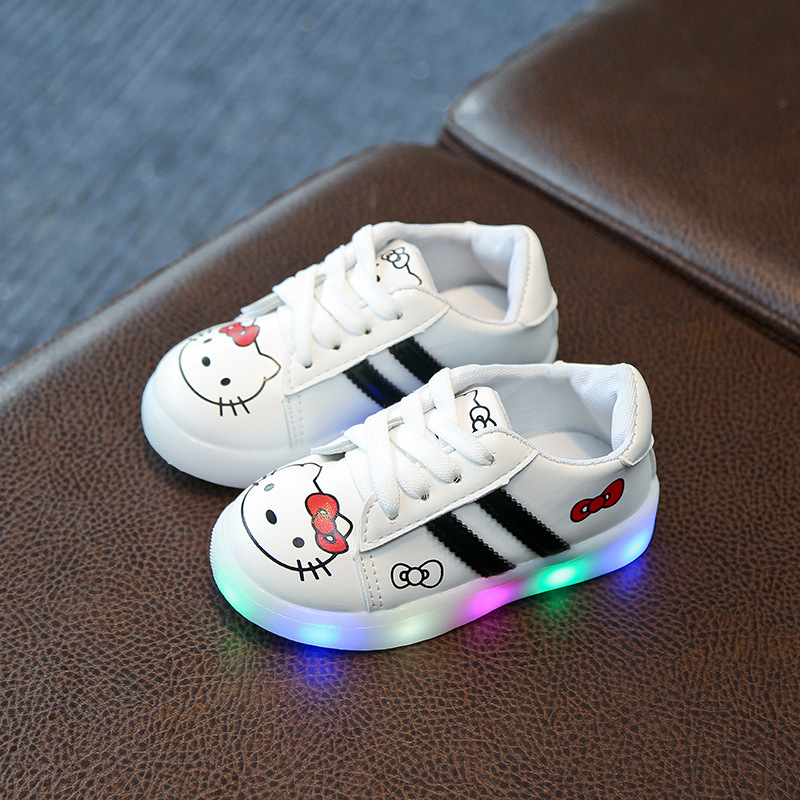 Brilliant 2018 Fashion Flowers Led Lighted Kids Children Casual Shoes Glowing Kids Sneakers Baby Boys Girls Soft Bottom Shoes Infant Walk Mother & Kids Children's Shoes