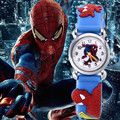 HOT Fashion spiderman cartoon watch kids watches children boy cool 3d rubber strap quartz watch clock baby Birthday Xmas gift