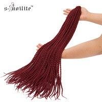 SNOILITE 20 Synthetic Ombre Senegalese Twist Crochet Braiding Hair Extensions Kanekalon Hairpiece 20Strands Pcs 3pcs Lot