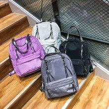 2017 нейлон холст сплошной цвет Женская мода Большой рюкзак леди sohool девушки студент холст рюкзак для обратно в школу сезона