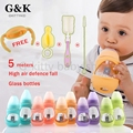 Newborn Baby milk bottles mamadeira 0-3 age Bottle Feeding Straw Training Cup 150/240ML quality glass baby bottle with handle