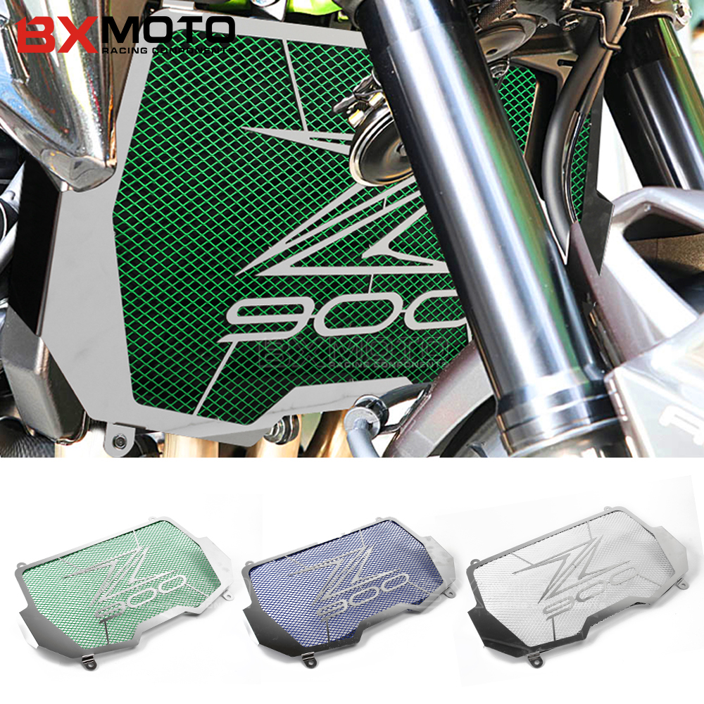 BXMOTO Motorcycle Stainless Steel Radiator Grille Guard Protection for KAWASAKI Z900 Z 900 2017 Bezel engine grill guard cover motorcycle radiator grill grille guard screen cover protector tank water black for bmw f800r 2009 2010 2011 2012 2013 2014
