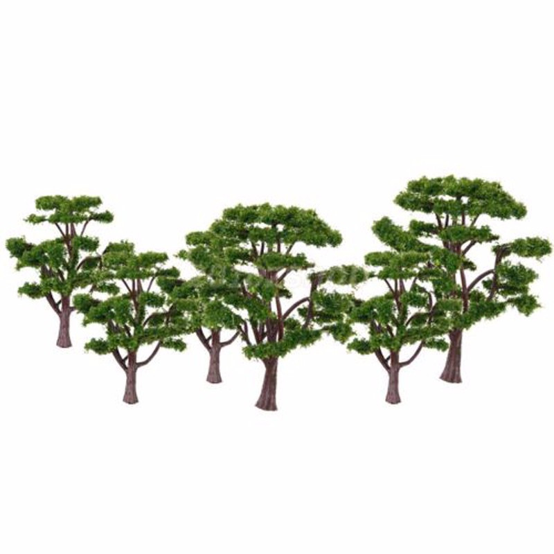 10pcs Plastic Miniatures Pine Tree 10CM Model Train Railway Layout Wargame Diorama Architecture Scenery Decoration