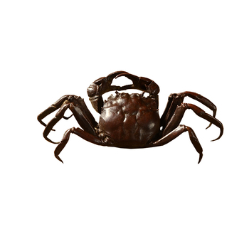 pure copper crab originality exquisite antique bronze tea stand mat metal crab tea pet kung fu tea pet mini tea set