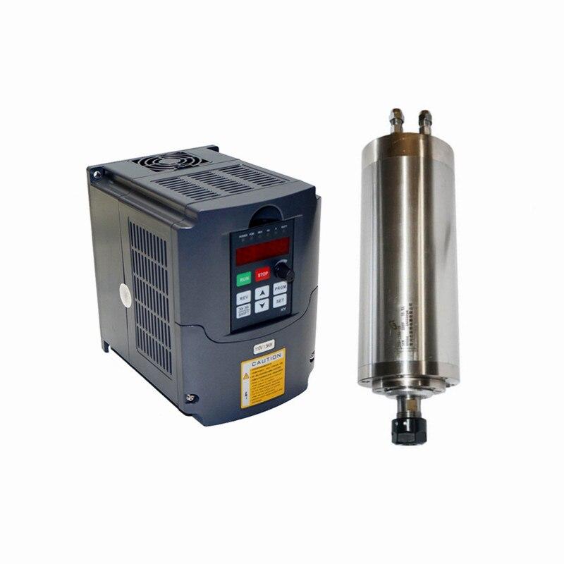 0.8KW Spindle CNC Router Motor ER11 Milling Spindle Kit 1.5kw Inverter VFD 65mm water cooling spindle sets 1pcs 0 8kw er11 220v spindle motor and matching 800w inverter inverter and 65mmmount bracket clamp