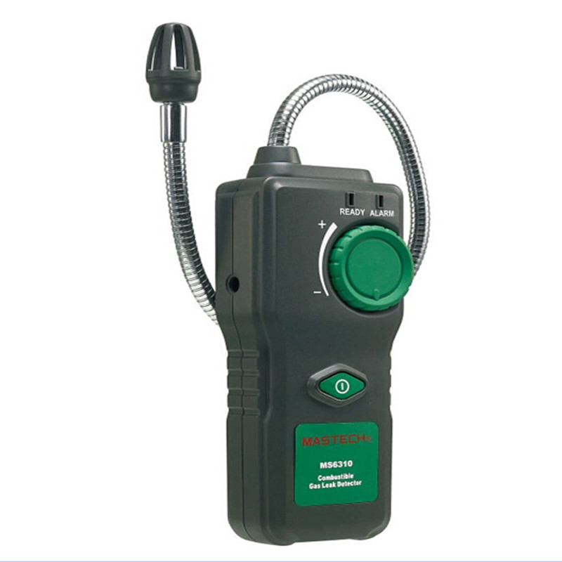 MASTECH MS6310 Portable Combustible Gas Leak Detector Natural Gas Propane Gas Analyzer With Sound Light Alarm portable combustible gas leak detector natural gas propane gas analyzer with sound light alarm mastech ms6310 free shipping