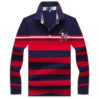 2019 autumn winter new men polo high quality striped polo shirt fashion casual long sleeves solid polo shirt brand clothing
