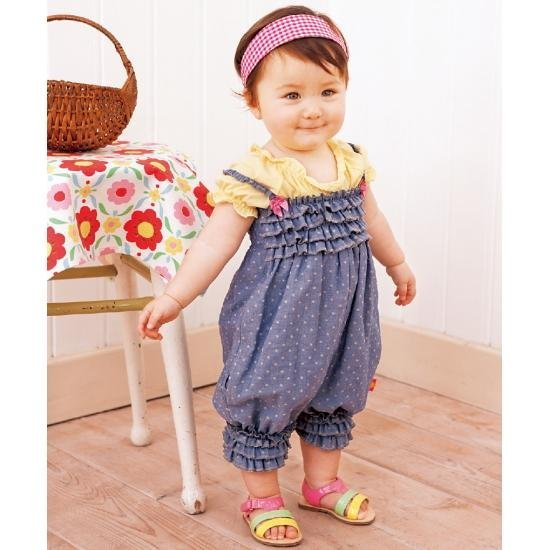 Baby Romper,Siamese trousers.Denim harnesses,Girls baby dress,sample order