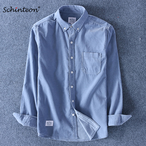 Image 1 - Schinteon Top Kwaliteit 100% Katoen Corduroy Shirt Lange Mouwen Dieptepunt Shirt Slim Fashion Brand S 4XL