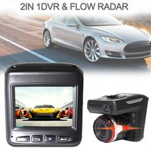 цены 2 In 1 Car DVR Radar Detector G-senor Car-detector Camera HD 1280P speed camera detector Antiradar Russian/English Language