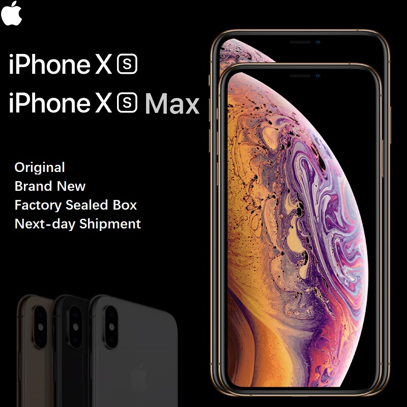 Brand New iPhone Xs/Xs Max 4G LTE Face ID All Screen 5.8/6.5 OLED Super Retina Display SmartPhone GPS Bluetooth IP68 Waterpr Mi