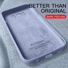 Жидкий силиконовый чехол для samsung Galaxy S8 S9 Plus S10 Lite S10E Note 8 9 10 Pro мягкий тонкий полный чехол s Coque Funda