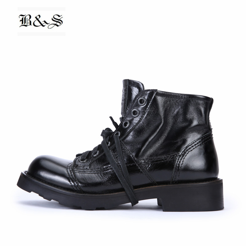 Black&Street High End Handmade motor Boots Genuine Leather Thick Sole Tooling male Desert Martin Boots Top Quality Goodyear shoe men shoes martin boots genuine leather male fashion casual shoe to help the high wear water resistant tooling boots