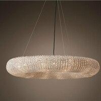 LukLoy Large Luxury Chandelier Large Ring Crystal Chandelier Pendant Light For Hotel Hall Villa Shop Decoration