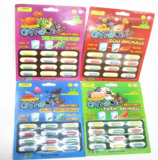 New Magic EVA Macio Bebê Cognição Brinquedos Cedo Brinquedo Educativo Crianças Dinossauro Dos Desenhos Animados Brinquedos Brinquedos para o Banho Brinquedo Crescer Cápsula