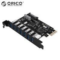 ORICO USB 3 0 7 Port PCI E Express Card Sata To 15 Pin High Speed