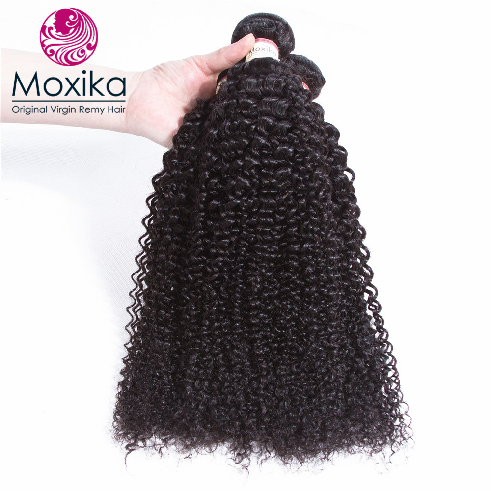 Moxika Hair Malaysian Afro Kinky curly Hair 3Bundles 100 Malaysian Human Hair Weaves Can Be Dyed