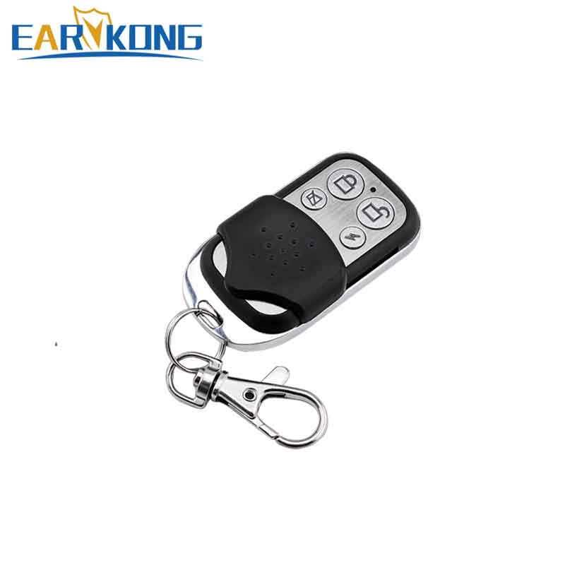 433MHz Wireless Remote Controller Metal Key Chain 4 Keys Only For Our Wifi / PSTN / GSM Home Burglar Security Alarm System