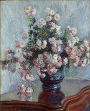 Claude Monet Painting Chrysanthemums Oil Home Decorative Canvas For Living Room Reproduction Suppliers