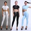 2016 Verão Nova Marca Sportswear Treino de Algodão 2 Peça Definir Mulheres Apertado Casual Suit Com Capuz Tops + Calças Sexy Lápis