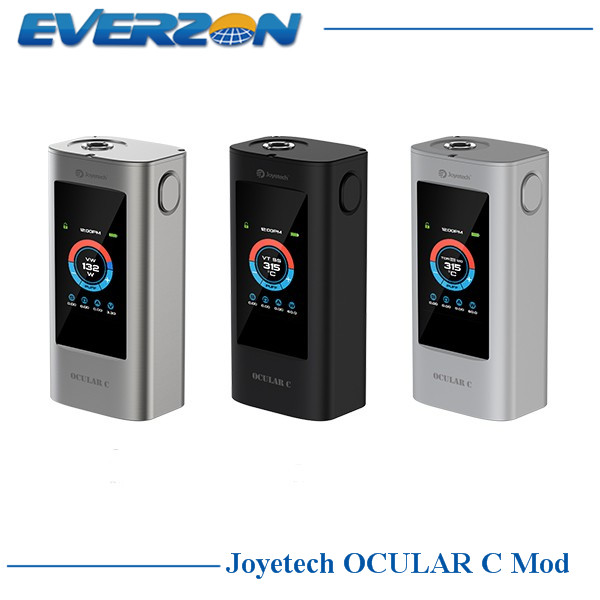ФОТО 100% Original Joyetech Ocular C Mod 150W Box Mod Powred by Dual 18650 Batteries Bluetooth touchscreen Mod Ocular C 150W