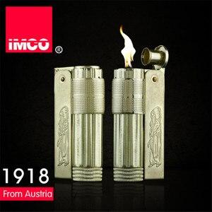 Image 5 - Classica Genuine IMCO Accendino A Benzina Generale Benzina Olio Più Leggero Di Rame Originale Sigaretta Gas Lighter Cigar Fuoco Rame Puro