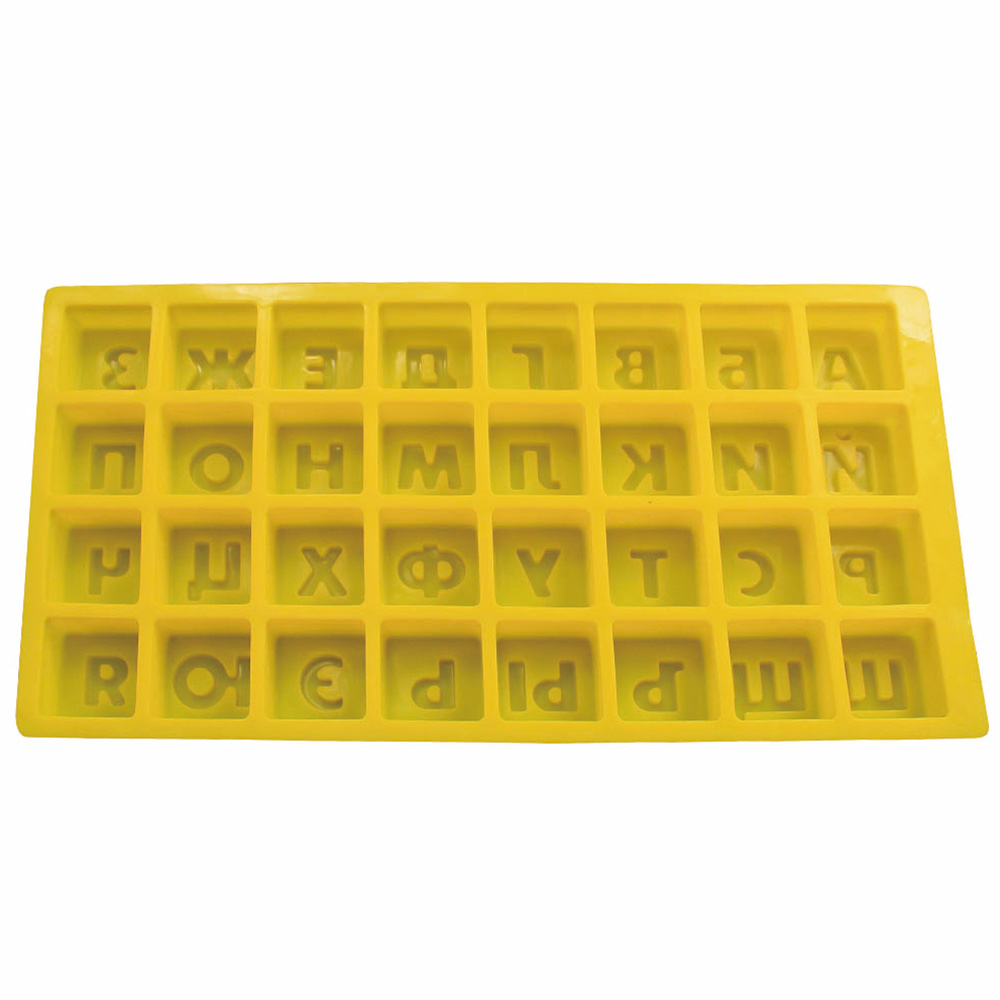 Russian Alphabet Fondant Molds Cake Decoration Chocolate Mold Candy Cookie Baking Tools