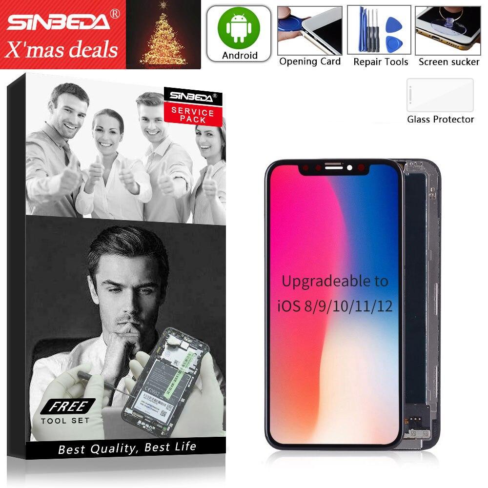 Avec 3D Force Tactile TINAMA AMOLED OEM Pour iPhone X XS Max XR écran lcd écran tactile Avec remplacement du numériseur pièces d'assemblage