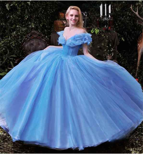2015 Hot Sale Movie Cinderella Dress Colorful Wedding