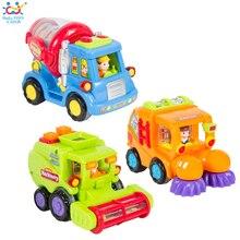 (Conjunto de 3) venta al por mayor del bebé toys push and go motor de fricción coche de juguete camiones niños pretend play toys great regalo huile toys 386