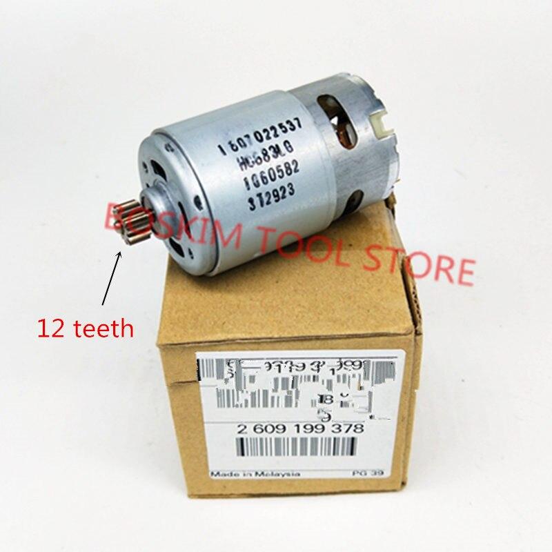 Motor Parts Set 12 Teeth 2 609 199 378 14.4V For BOSCH GSR1440-LI TSR1440-LI 2609199378  Cordless Drill Driver