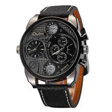 Oulm Mens Designer Montres De Luxe Montre Casual Male Bracelet En Cuir Heures Petits Cadrans Décoration Horloge À Quartz reloj hombre