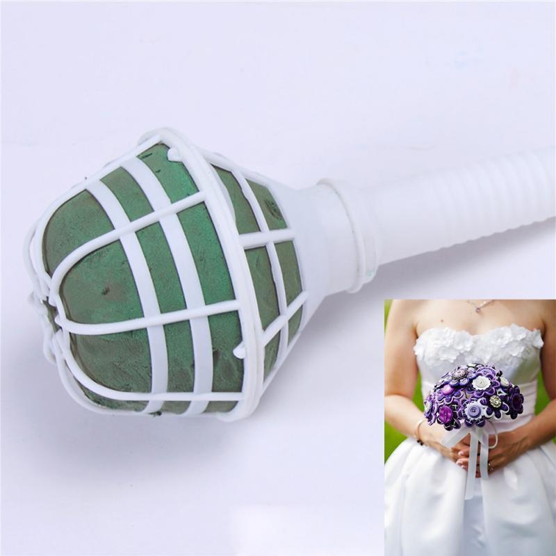 New Arrival 6Pcs Bouquet Holder Handle Bridal Floral Wedding Flower Holder Diy Flower -4653