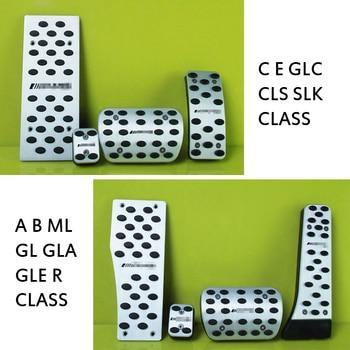 цена на Car Accelerator Brake pedal Non-slip Refit Pedals cover for Mercedes Benz C E GLC CLS SLK A B ML GL GLA GLE R CLASS accessorie