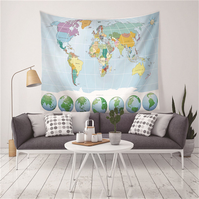 World map tapestry watercolor high definition map fabric wall world map tapestry watercolor high definition map fabric wall hanging home decor polyester table cover gumiabroncs Images