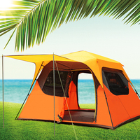 New outdoor 3 4 6 multi family camping tents fast sun protection sunshine sunshelter automatic tent
