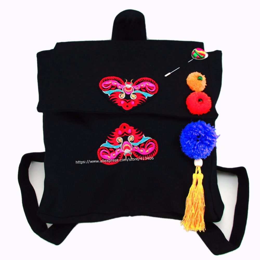 Tribal Vintage Hmong Thai Indian Ethnic Boho rucksack Boho hippie ethnic bag, backpack bag  SYS-1001