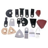 66pcs Multi Function Metal Oscillating Saw Blade For Wood Plastic Cutting DIY Tool Kit Set Sanding