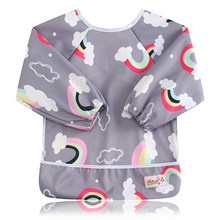 Baby Bibs Long Sleeve Baberos Bebes Waterproof Newborn Burp Cloths 2018 Brand Baby Slabbers Baby Eating and Feeding Clothes(China)