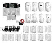 free shipping DHL FDL-30A-432 English Russian Spanish French Voice GSM Alarm system Home security Alarm systems