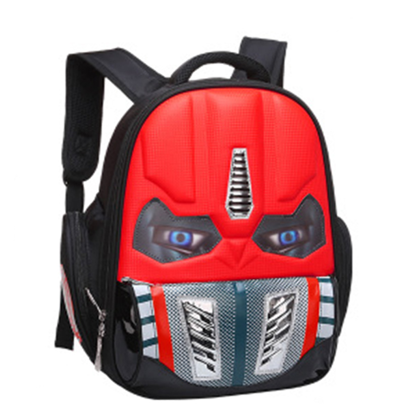 YELLOW Kids Transformers Character School Bag Backpack LED Light Eyes
