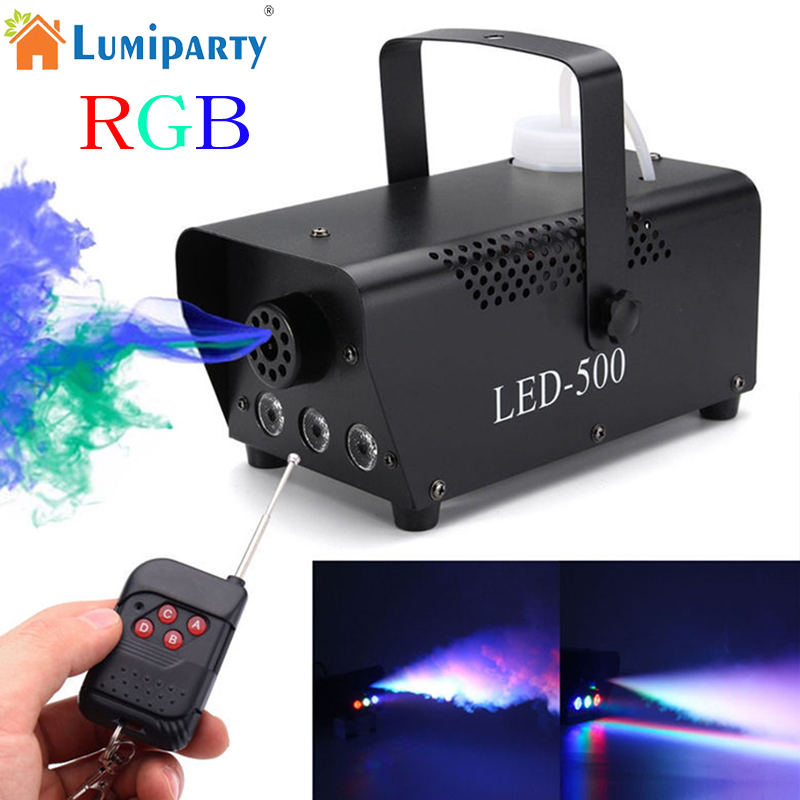 Wireless Control LED 500W Smoke Machine RGB Color LED Fog Machine LED Fogger Stage Smoke Ejector for DJ Party LED Stage Light 900w 1l fog machine remote wire control fogger smoke machine dj bar party show stage machine