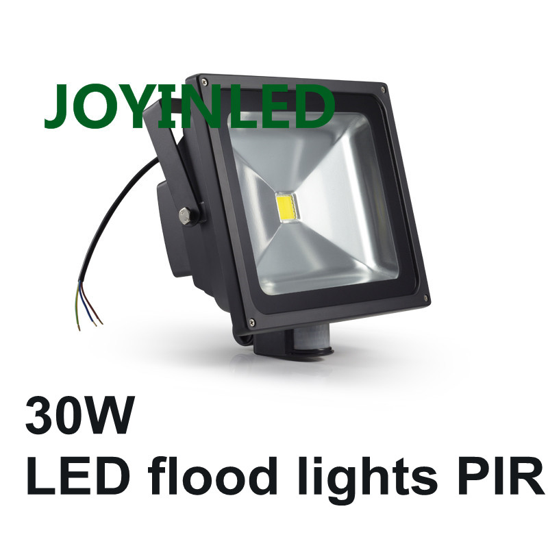 Hot Sale 10W 30W 50W LED Flood light PIR Motion Sensor AC85-265V led lamp waterproof outdoor lighting LED Floodlights стоимость