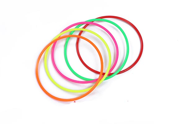 10pcs 15cm Outdoor Colorful Plastic Hoopla Rings Throwing Circles for Children Kid Fun Sport Toy