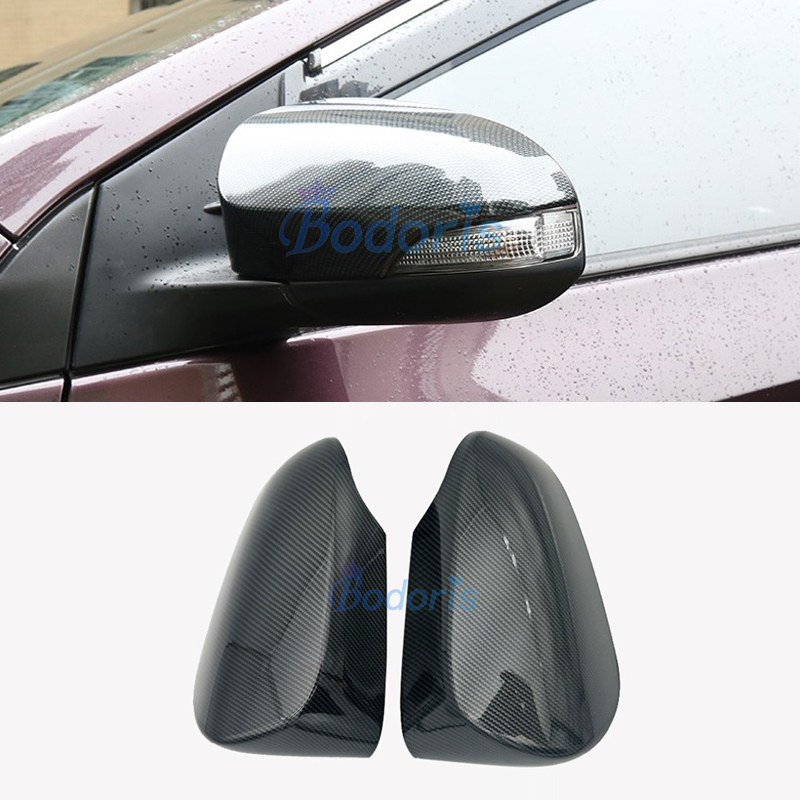 For Toyota CHR C HR 2017 2018 Carbon Fiber Color Door Mirror Cover Rear View Overlay Panel Chrome Car Styling Accessories in Chromium Styling from Automobiles Motorcycles