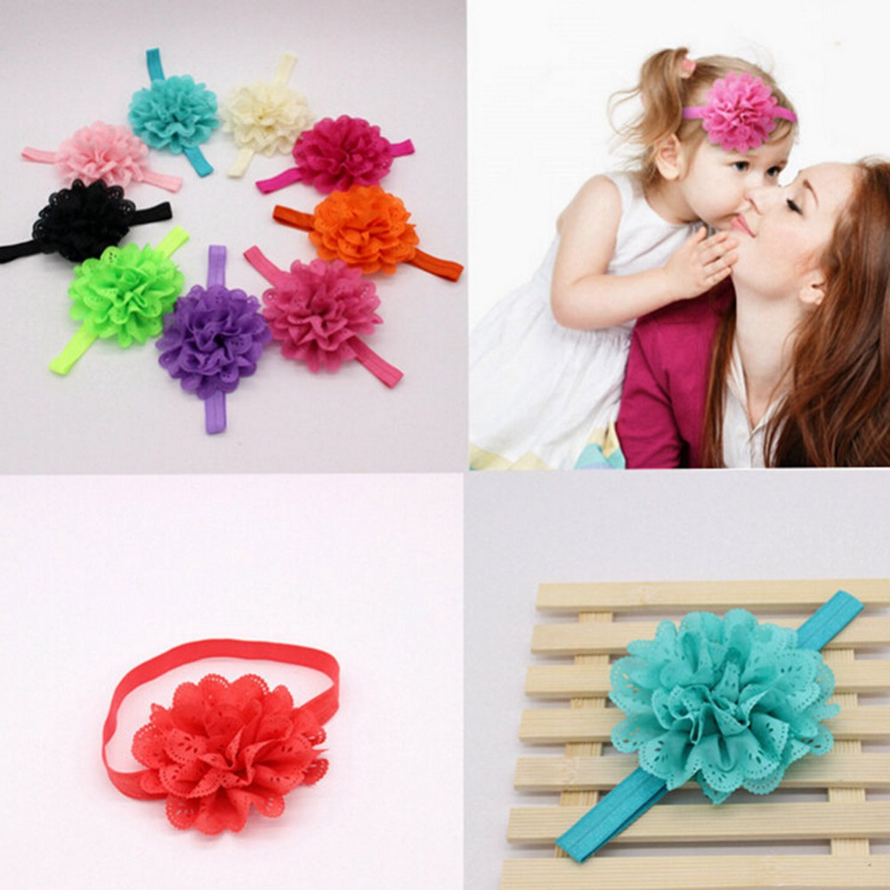 New Cute Children elastic hair bands Headwear Girls flower bow hollow out flower Headband Hair Accessories 2016 sale new arrival headband korean flower cartoon girls elastic hair bands accessories rope ties princess gift 6 pcs