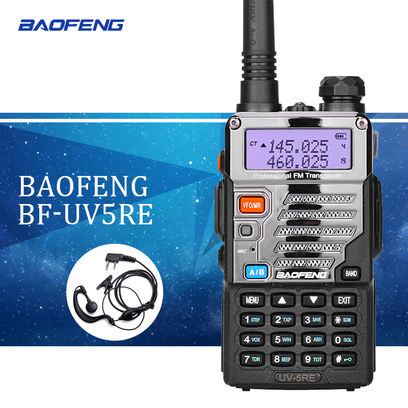 1 pcs Baofeng UV5RE Talkie-Walkie UV5R Version Améliorée UHF VHF Double Montre CB Radio VOX FM Émetteur-Récepteur pour chasse Radio