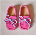 Child Moccasins girls shoes spring and autumn princess shoes genuine leather baby shoes casual  single shoes soft
